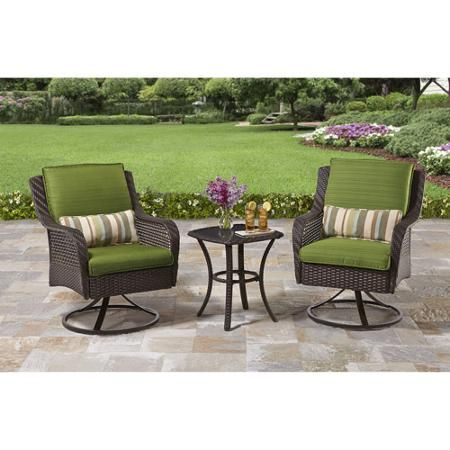 Better Homes And Gardens Amelia Cove 3 Piece Outdoor Bistro Set, Seats 2