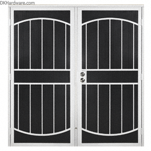 security screen doors for double entry   CRL Columbia Gibraltar White 60\