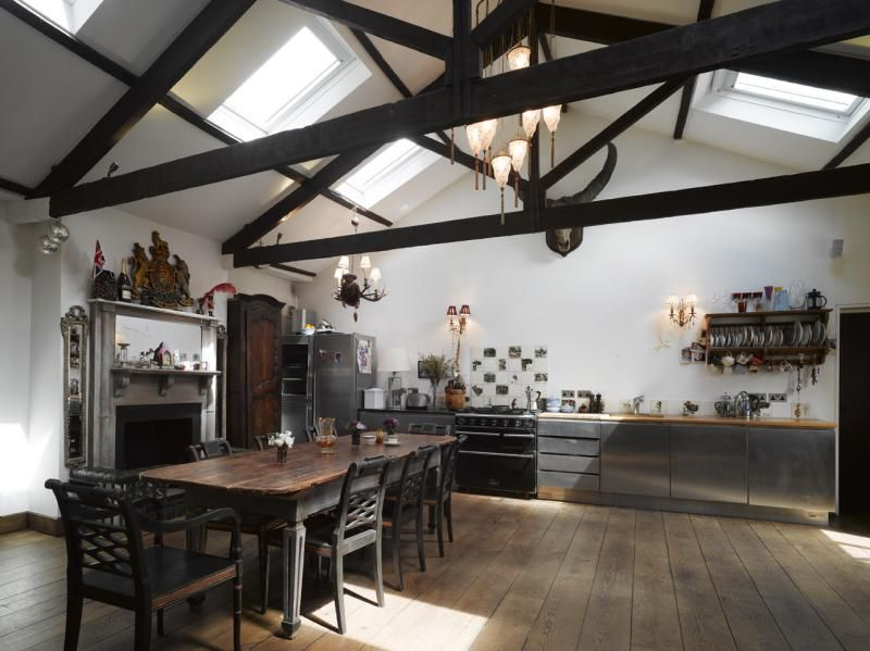 Dark+Modern+Medieval+Style+Kitchen+ | Gothic kitchen ...