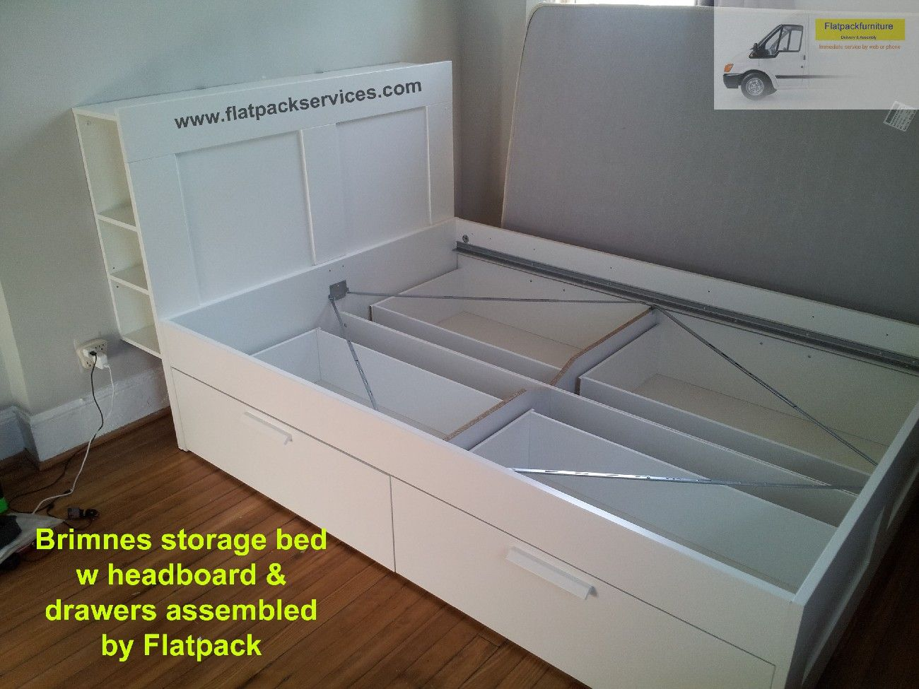 Ikea Brimnes Storage Bed Assembled In Nw Dc By Flatpack Assembly