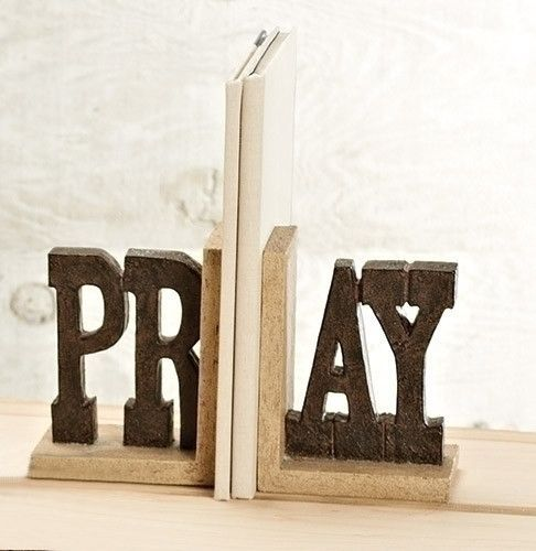 Pray Book Ends Christian Gift Home Or Office O God, Send Forth Your Holy  Spirit