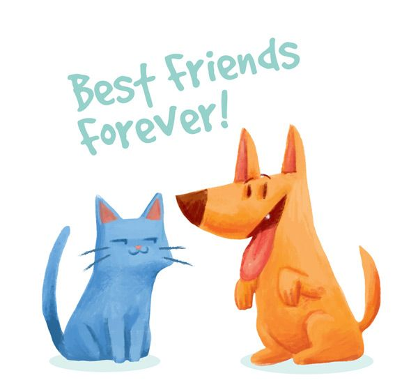 CAT and dog friendship Vector AI cuties Pinterest Friendship - found dog poster template