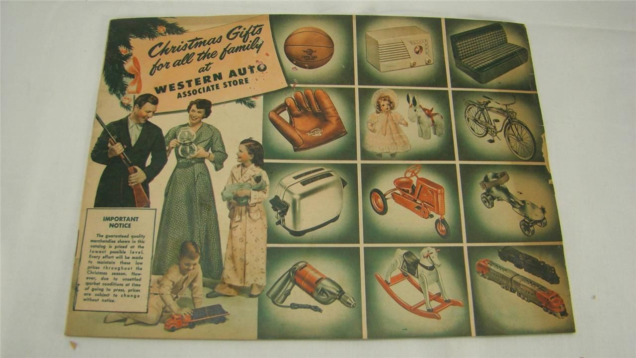 Vintage 1940's Western Auto Christmas Gifts Toys Catalog ...