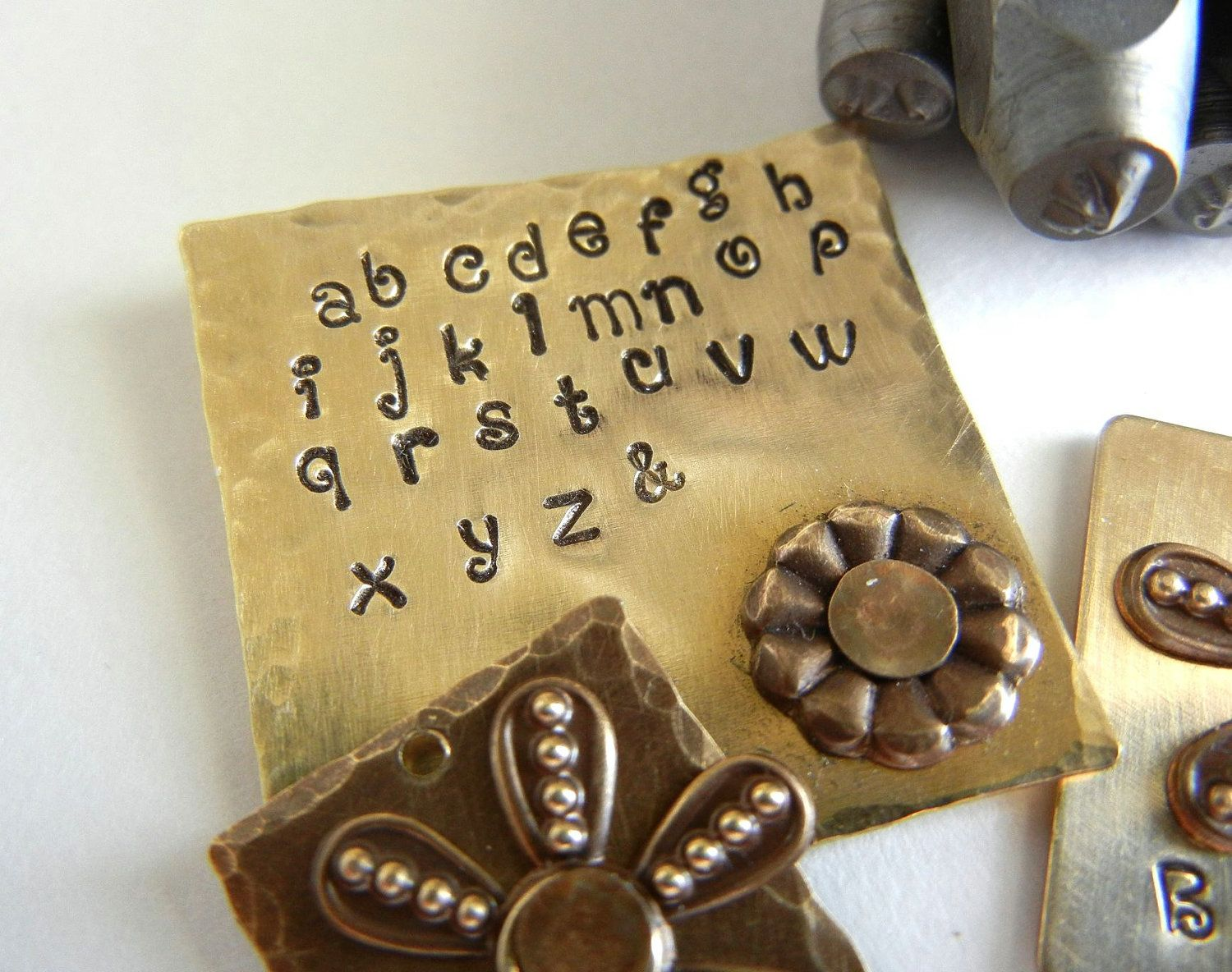 Tin Alphabet Letters 2Mm Lowercase Verona Font Alphabet Letter Punch Set  Metal Stamps