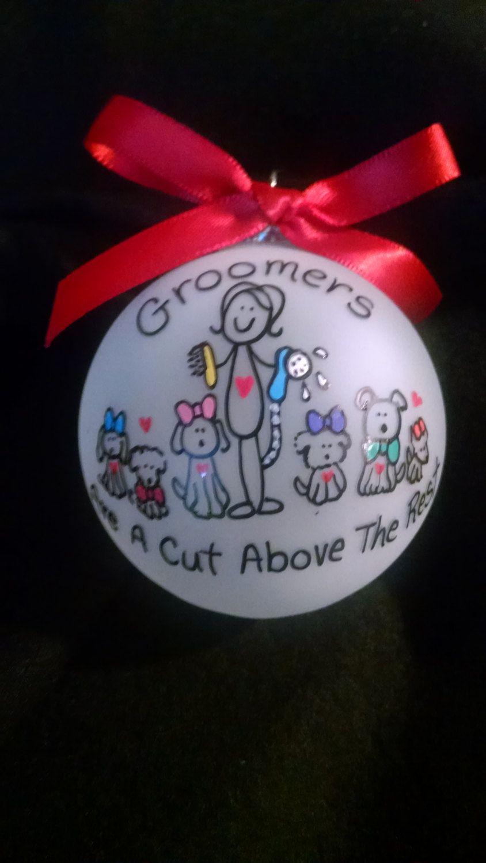 Christmas ornaments,custom personalized ornament,groomer ornament,pet groomer…