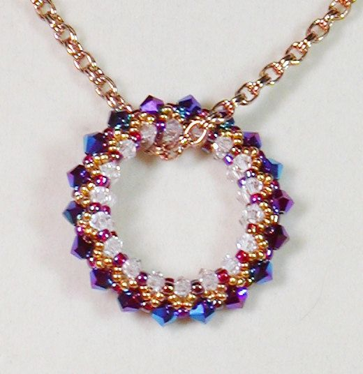 bead weaving pendant necklace circle of necklace
