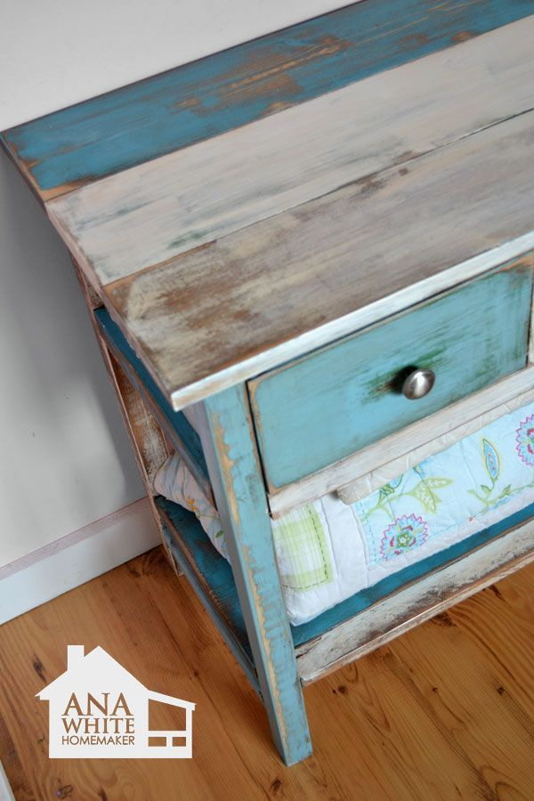Awesome How To Paint Furniture | Reclaimed Wood Patchwork Multi Color | Ana White    Homemaker;
