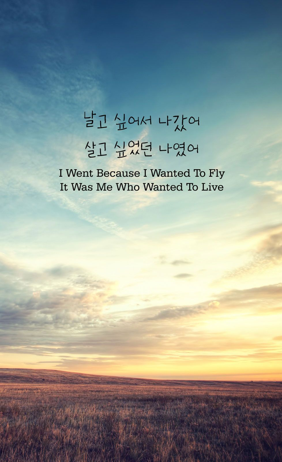 I Went Because I Wanted To Fly, It Was Me Who Wanted To Live (날고 ...