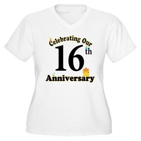 16th Anniversary Party Gift T Shirt 16th Anniversary 16th Wedding Anniversary Wedding Anniversary Quotes