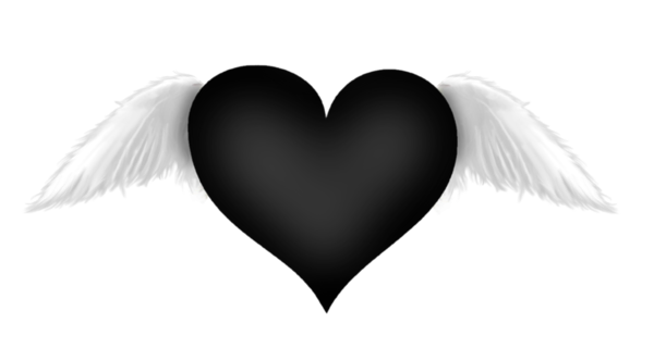 Black Heart With Wings Transparent Clipart Black Heart Emoji Heart With Wings Dark Heart
