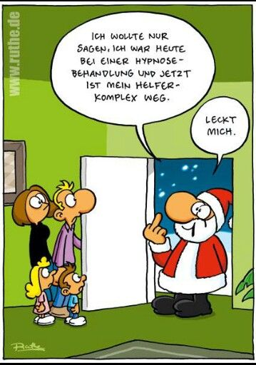 weihnachtsmann sehr lustiger cartoon von ralph ruthe. Black Bedroom Furniture Sets. Home Design Ideas