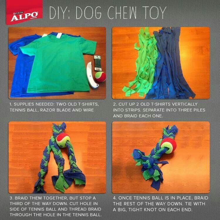 Diy Dog Chew Toy Diy Dog Stuff Diy Dog Toys Diy Stuffed