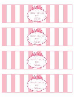 Free Printable Bridal Shower Water Bottle Labels By Paper Hat