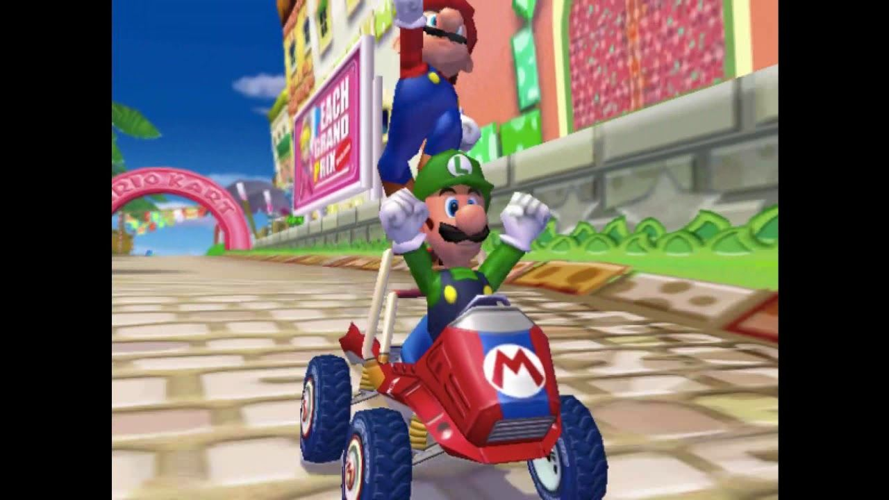 Mario Kart Double Dash 50cc Mushroom Cup As Mario Luigi With Time To Spend At Home James Decided To Revisit And B Mario Kart Mario And Luigi Gamecube