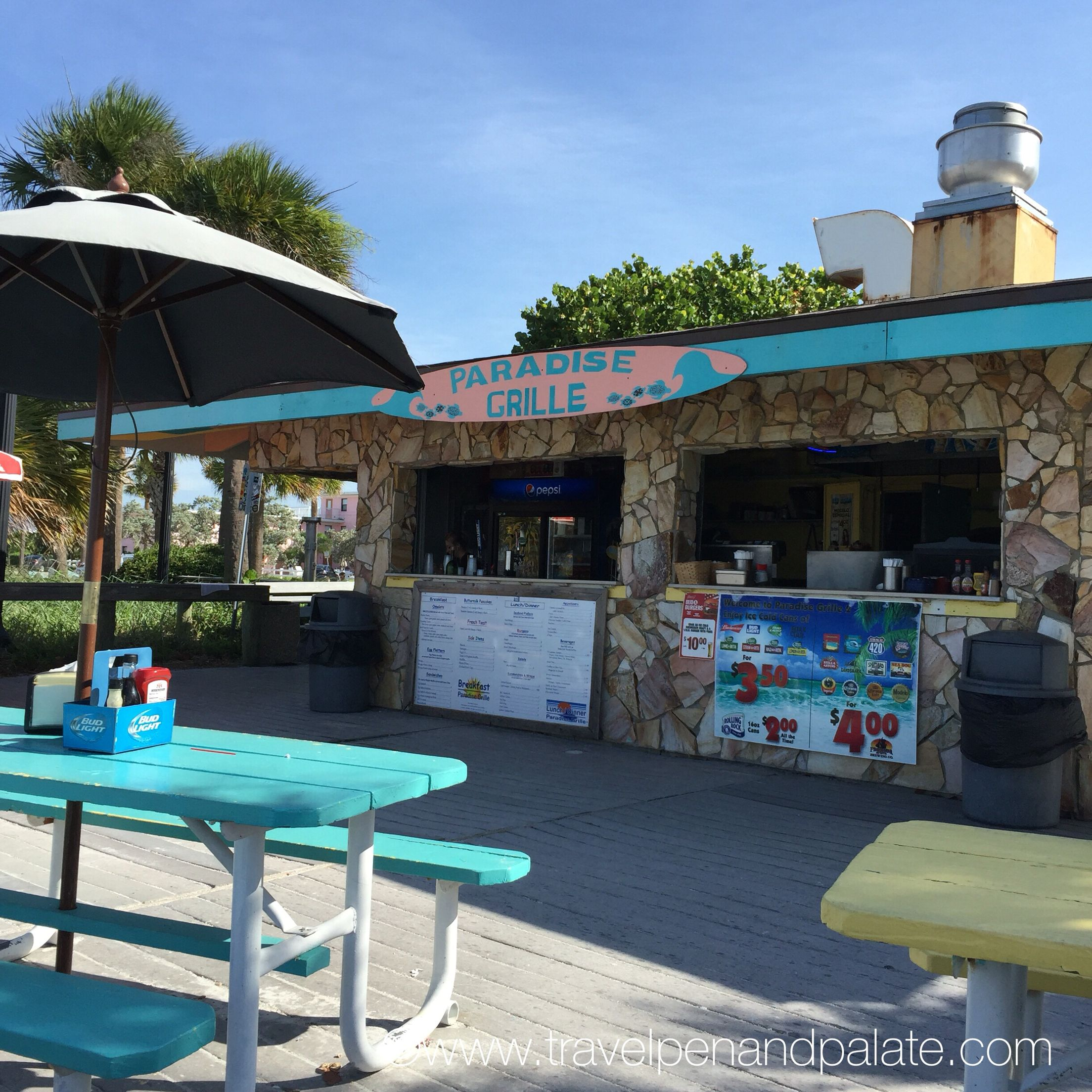 Breakfast on St. Pete Beach, Florida at Paradise Grille