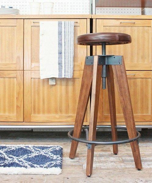 【セール】CHINON HIGH STOOL LEATHER シノンハイスツールレザー(家具) journal standard Furnitur...(ジャーナルスタンダードファニチャー)のファッション通販 - ZOZOTOWN