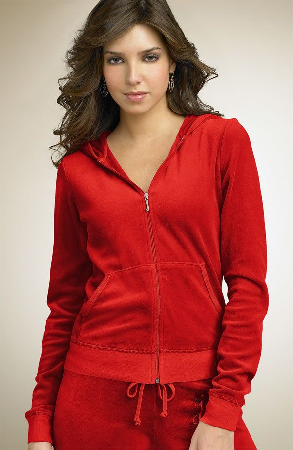 Juicy Couture Cherry Red Velour Jacket M