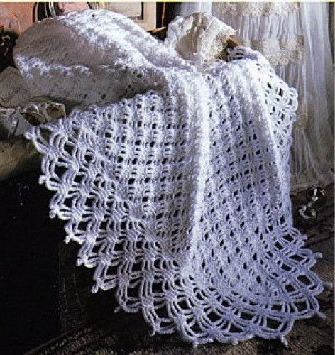Our Best Baby Afghans ~ <3 Gingham check theme granny squares with narrow ruffle edge