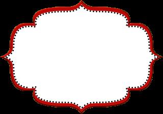 Vermelho Arabesco E Preto Kit Completo Com Molduras Para Convites