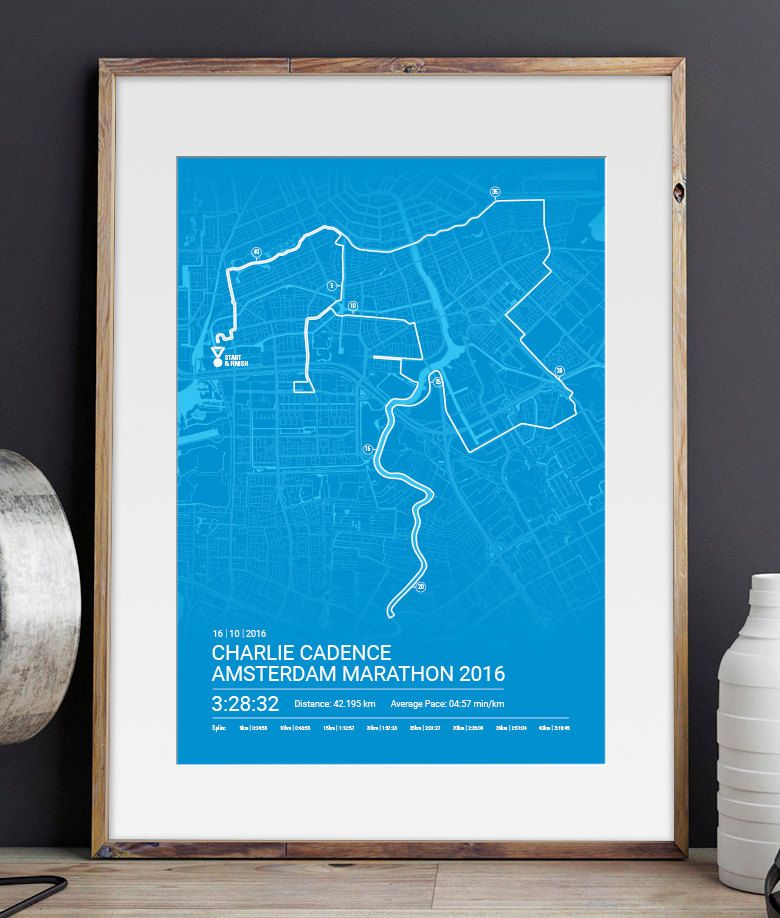 Map And Directions From One Place To Another%0A Personalised Amsterdam Marathon Poster   Memento   Art Print   Route   Map  by Sleepydogdesign on