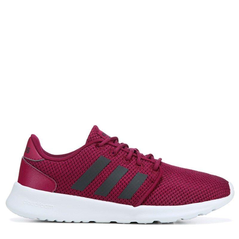 best website 77b0e de0c2 Adidas Womens Cloudfoam QT Racer Sneakers (Mystery RubyCarbo