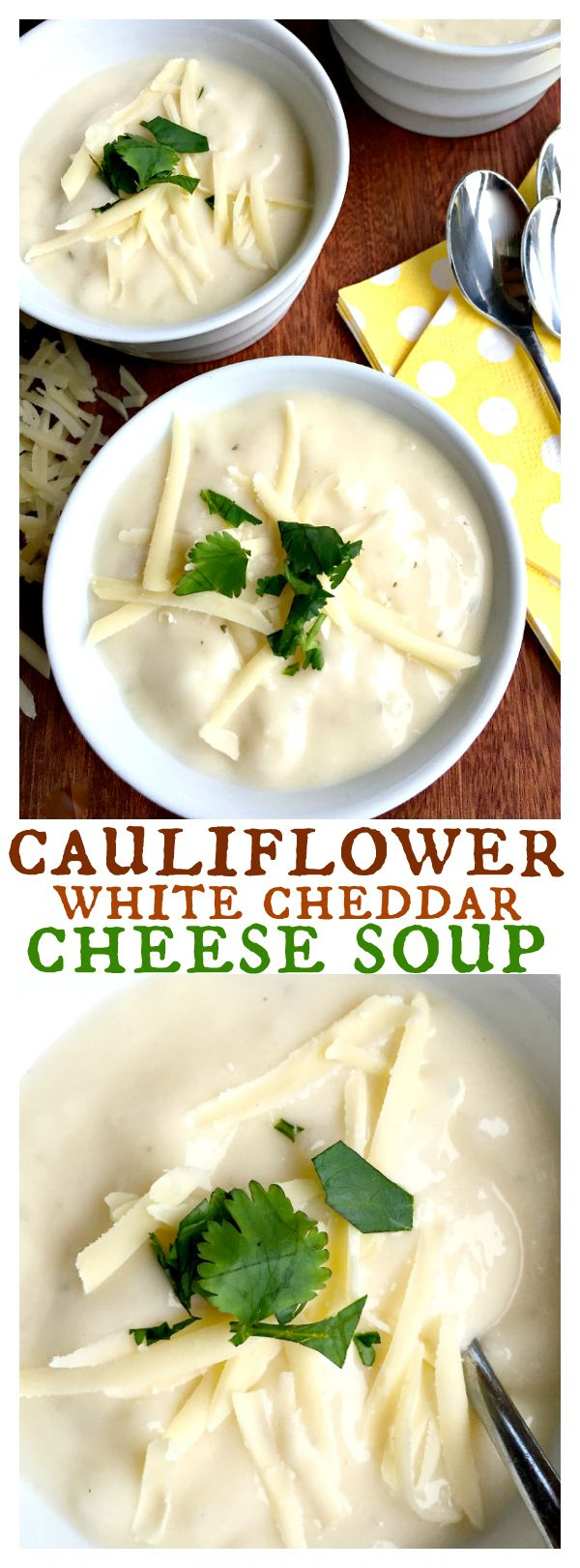 Cauliflower White Cheddar Cheese Soup Can Be Pureed To A