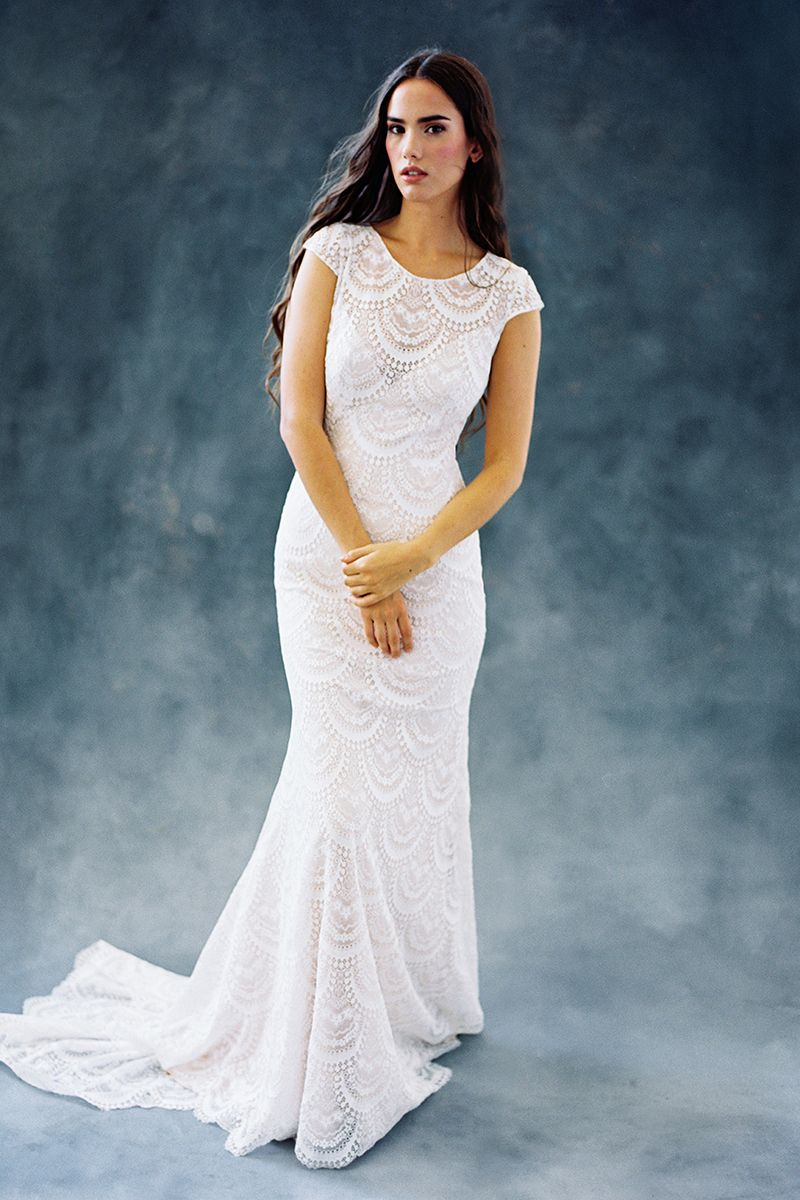 Wedding Dress out of Wilderly Bride (Fern), silhouette sheath ...