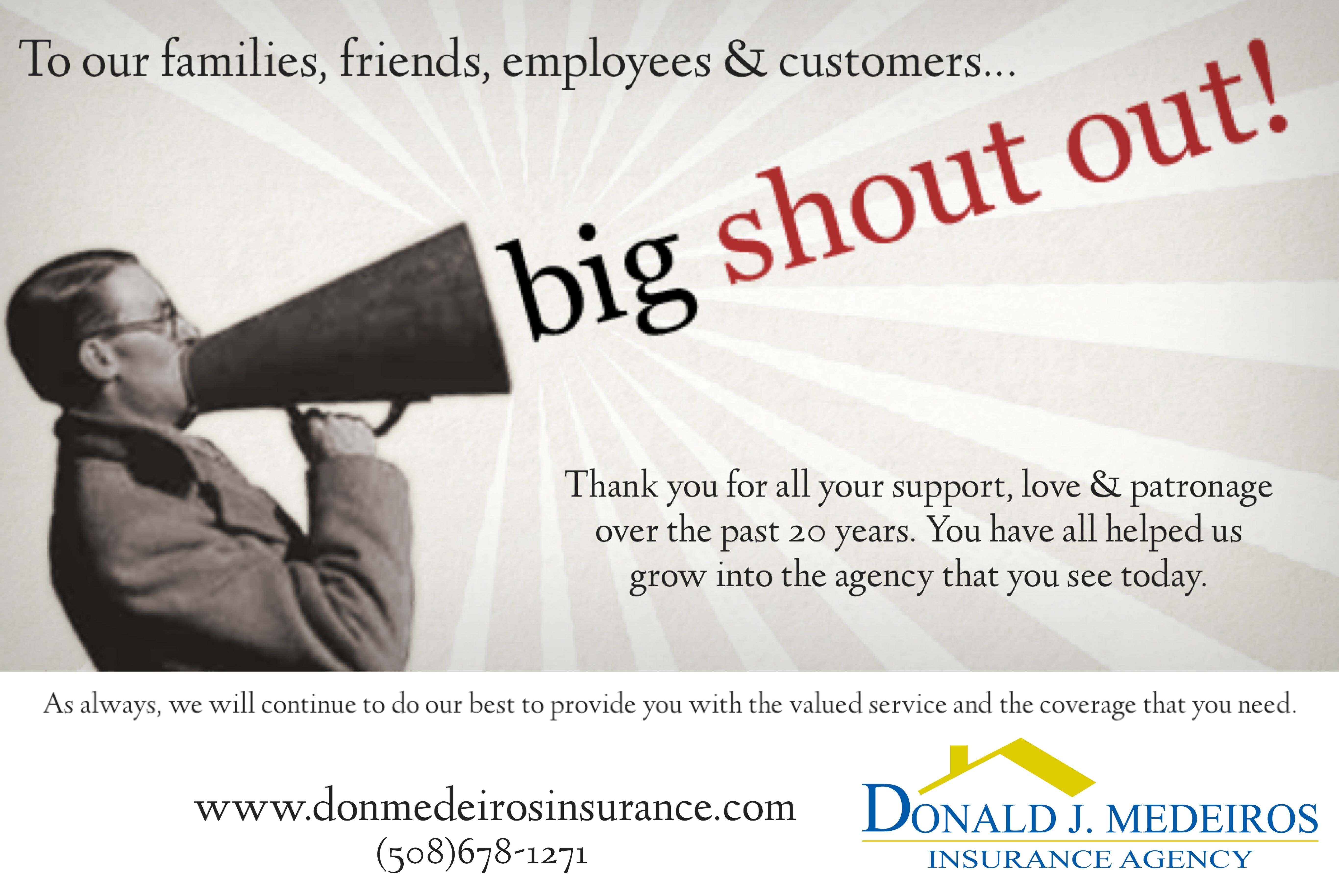 Just Wanted To Say Thank You Insurance Agency Business