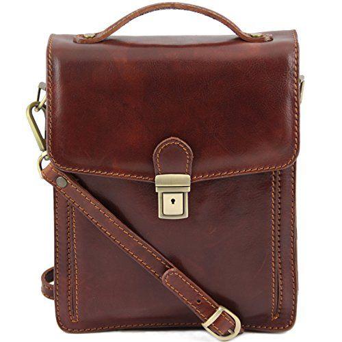 Tuscany Leather David Crossbody Bag Large Size Dark