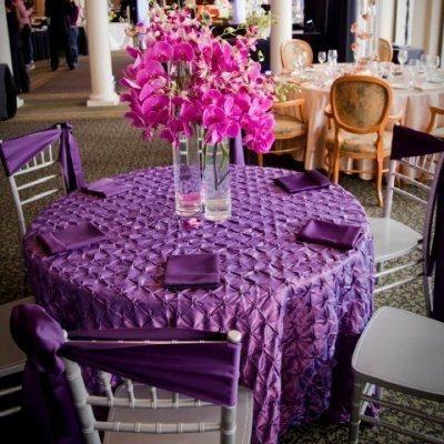 Plum Pinched Pinwheel Taffeta Tablecloth