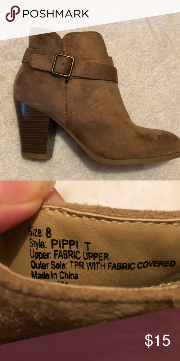 BROWN BOOTIES brown booties. size  8 Forever 21 Shoes Heeled Boots ... c9dc40a07c
