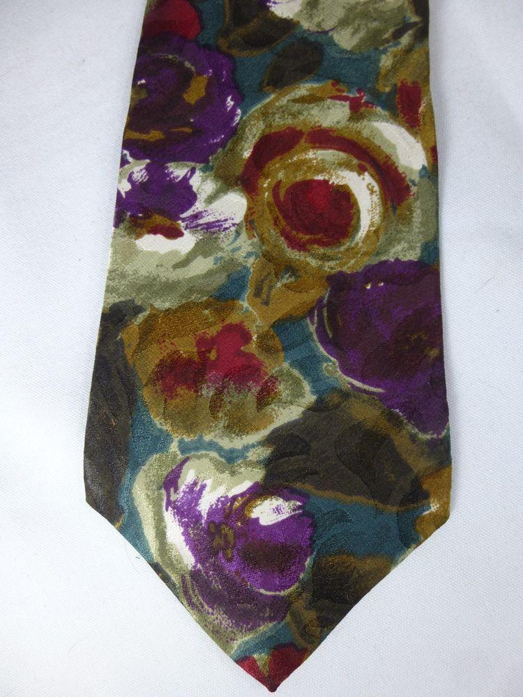Hawkes and Keynes Abstract Flowers Classic Men Silk Neck Tie #HawkesandKeynes #Tie