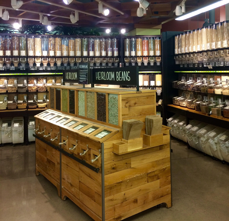 Bulk foods displays google search bulk food displays for Distributeur meuble