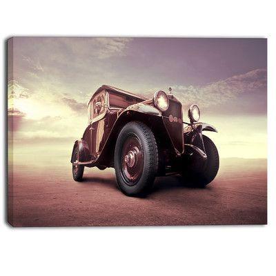 DesignArt Vintage Car Digital Artwork Photographic Print on Wrapped Canvas Size: