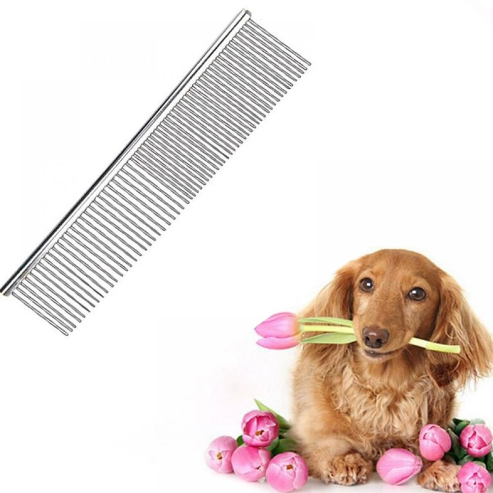 Stainless Steel Lightweight Dog Combs Long Thick Hair Fur