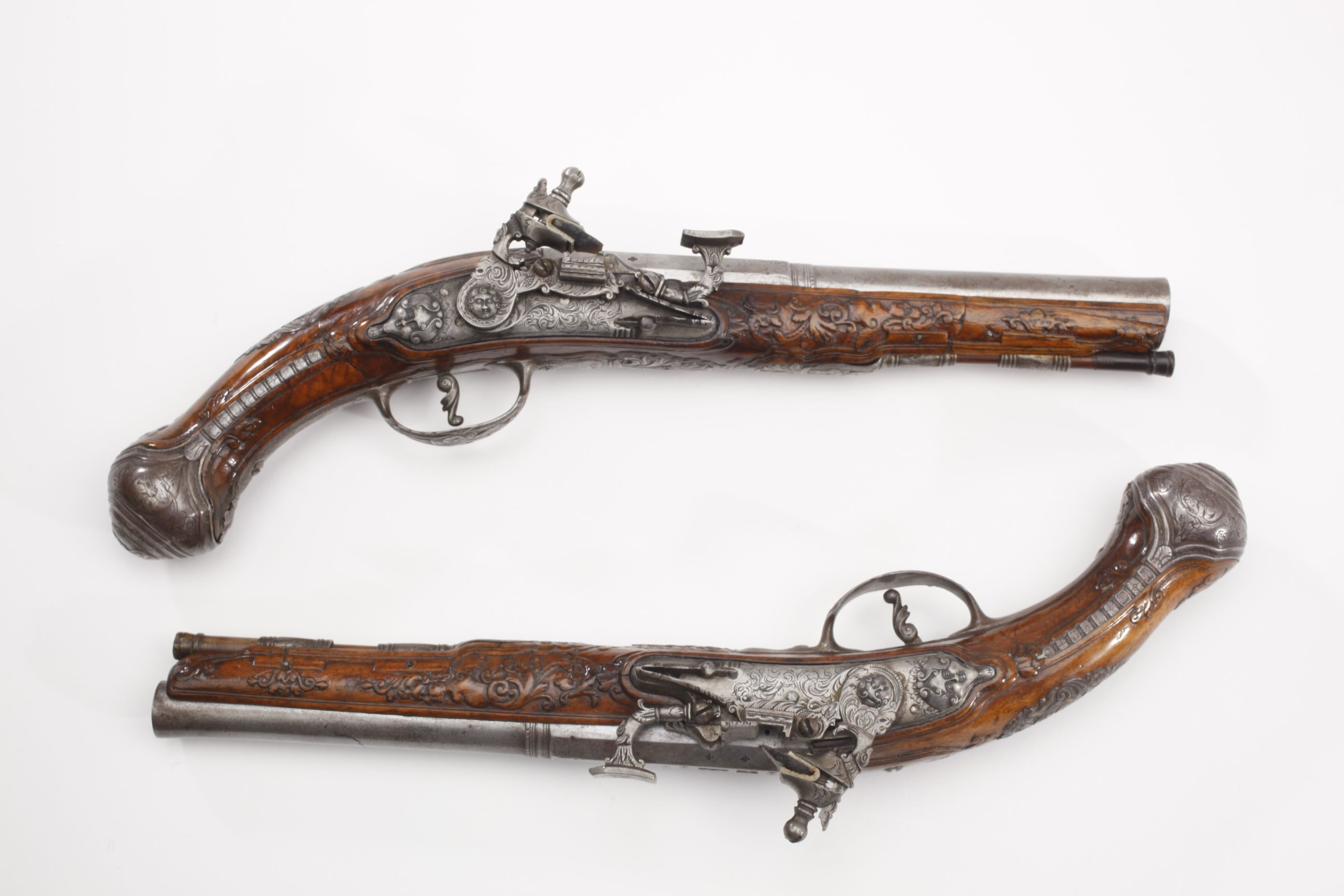 Teddy roosevelt guns to be displayed at nra national - Cassiano Zanotti Snaphaunce Pistol Pair This 60 Caliber Pair Incorporated The Snaphaunce Firing Mechanism