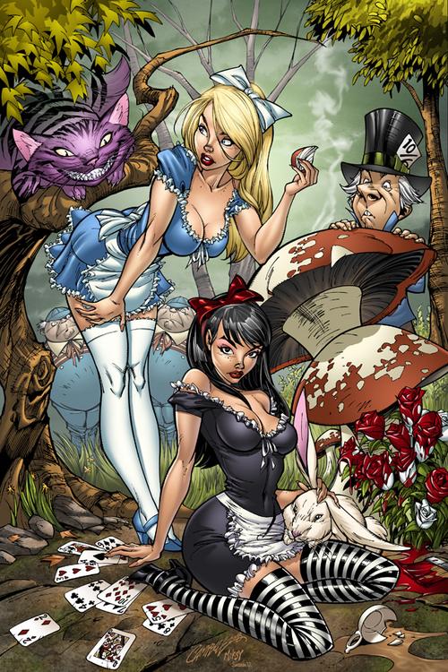 J. Scott Campbell Disney Alice | Alice in Wonderland ...