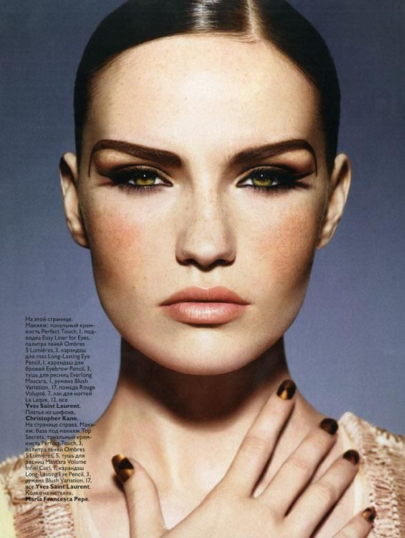 Makeup with Freckels - Vogue Russia