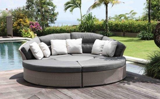 20 idées de lit de jardin rond - confort et relax sur la terrasse ...