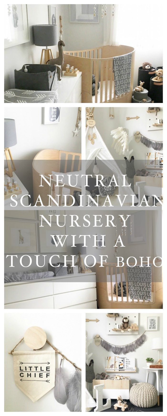 Neutral Scandinavian Nursery with a Touch of Boho ...