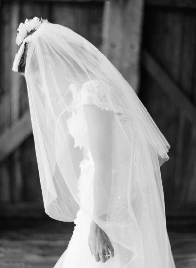 Beautiful bride in veil photo: http://www.stylemepretty.com/2013/05/23/vermont-wedding-from-jose-villa/ | Photography: Jose Villa - http://josevilla.com/