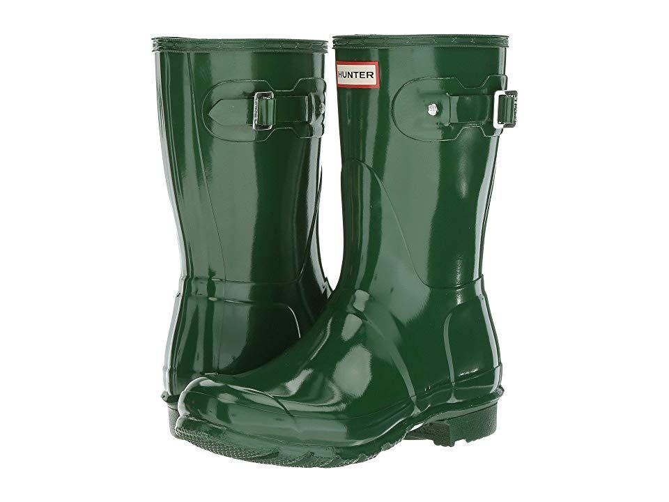 Green Wide Calf Rain Boots For Women Hunter Original Short Gloss Rain Boots Hunter Green Women S Rain Boots Wide Calf Rain Boots Hunter Original Short Boots