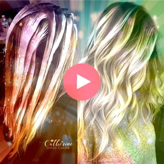 Hair Highlights  Balayage application  finished  Oligo clay lightener with just a d Trendy Hair Highlights  Balayage application  finished  Oligo clay lightener with just...