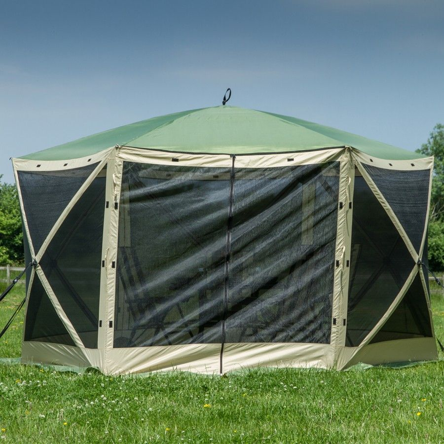 Quest Leisure Instant Spring Up Screen House 6 Sided Robert