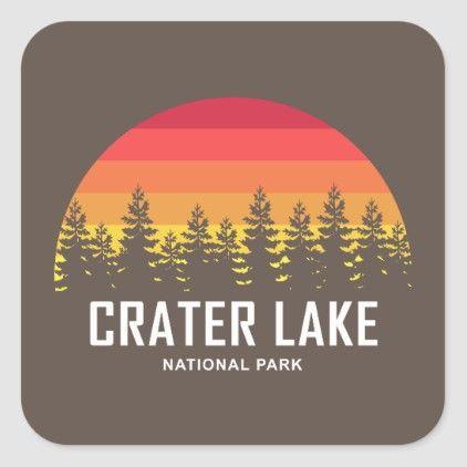 Crater Lake National Park Square Sticker   Zazzle.com