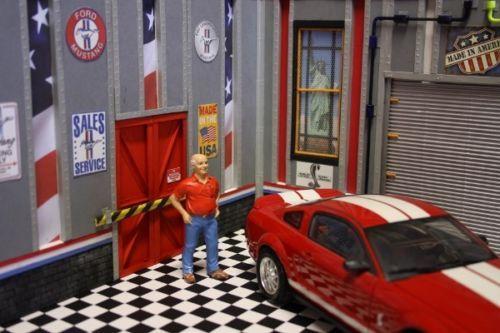 Diorama atelier garage 1 18 ford mustang sol damier for for Sol garage damier