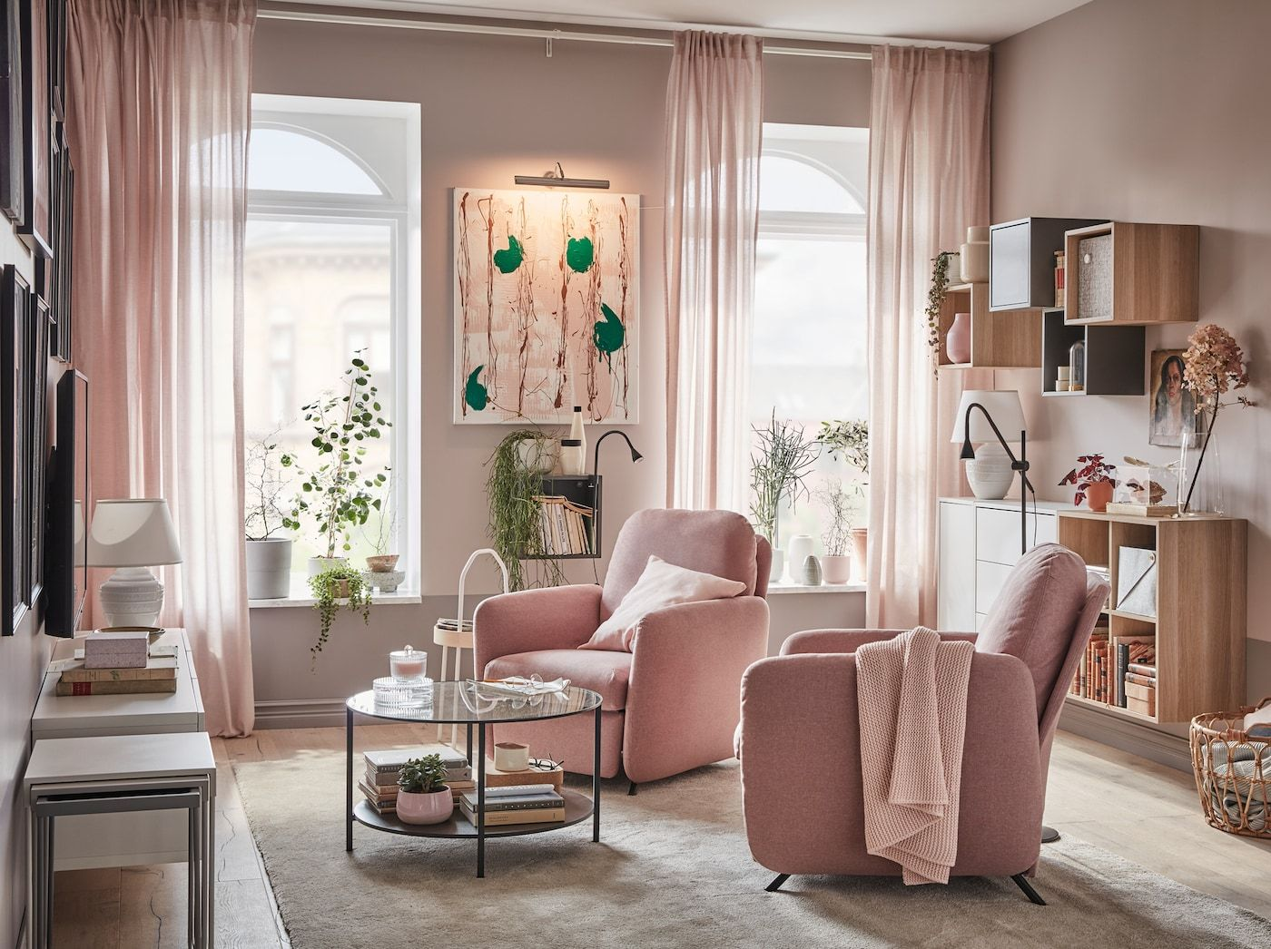 A Small And Elegant Living Room For Two Ikea Living