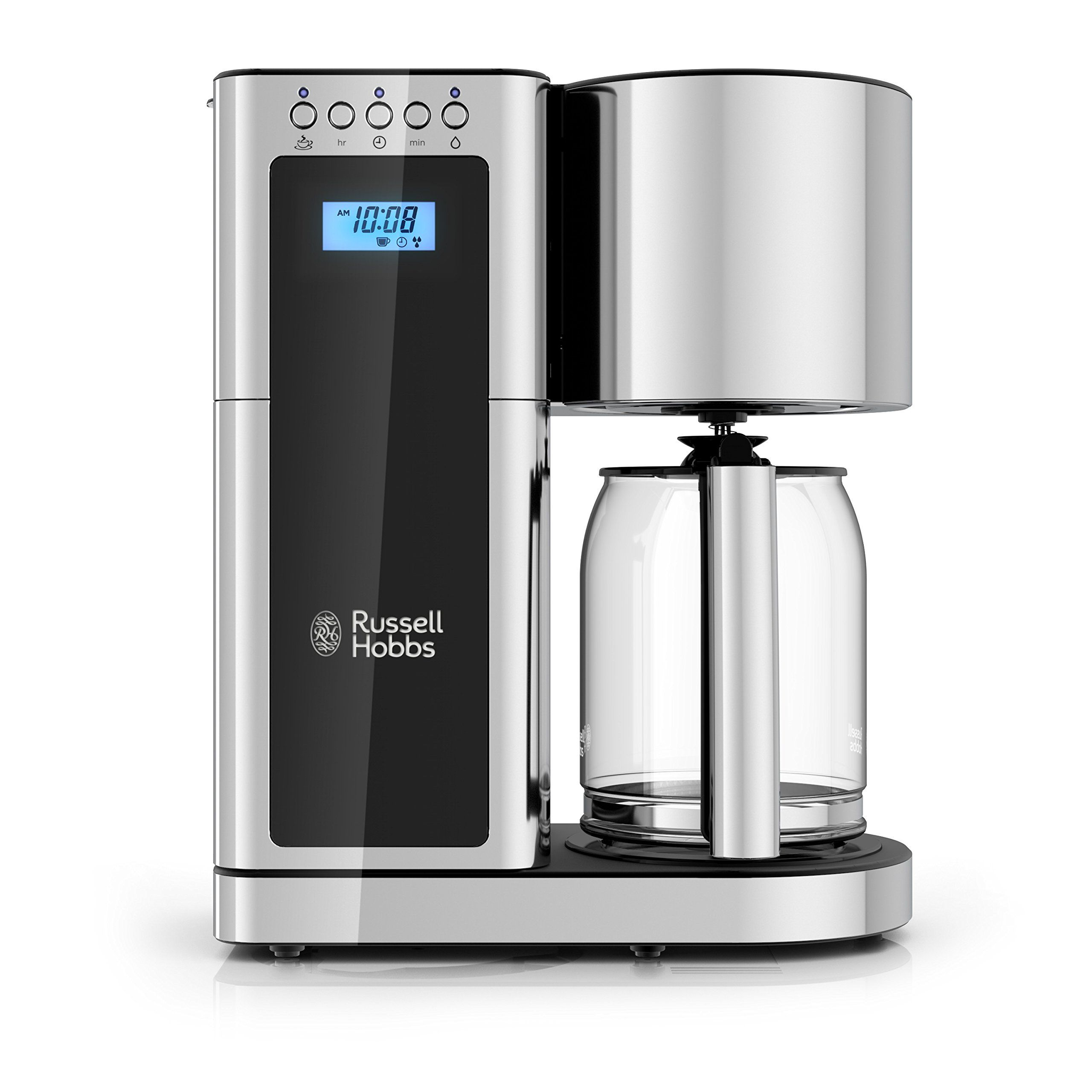 Russell Hobbs Glass Series 8Cup Coffeemaker Black and
