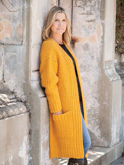 Golden Grove Cardi - crochet pattern! Make it in every color for the ...