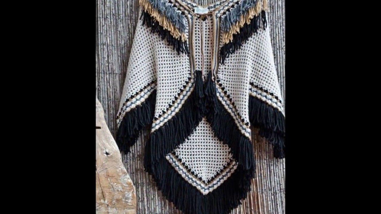 Hermosos Poncho Tejidos  a crochet